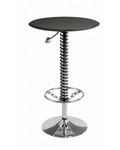 Pitstop Pit Crew Bar Table Black Faux